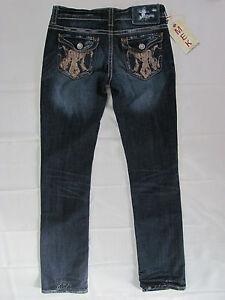 Mek angosi misura 145 Jeans nwt tasche Buckle By con Straight 27 Santiago risvolti qFqxaXf