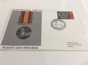 Bien Informé Commemorative Cover The Queen's Afrique Du Sud Médaille Nam Groupe 5#7 1510/71-afficher Le Titre D'origine