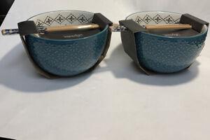 2/ SIGNATURE COLLECTION Ceramic Ramen Bowl With Chopsticks Nice Quality