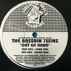 The-Bassbin-Twins-Out-Of-Hand-1997-UK-Vinyl-12-034-Single-CB13-Mint-UNPLAYED