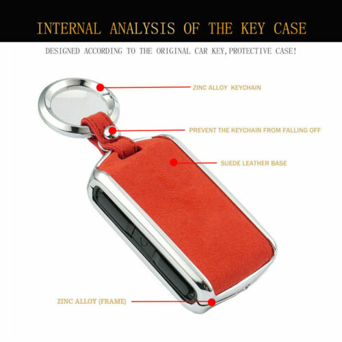 Smart Key Suede Leather Cover Case Shell Cap Fit For Volvo S60 S90 XC60 XC90 V90