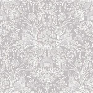 Harlen-Foret-Damas-Papier-Peint-Rouleaux-Gris-Holden-90160