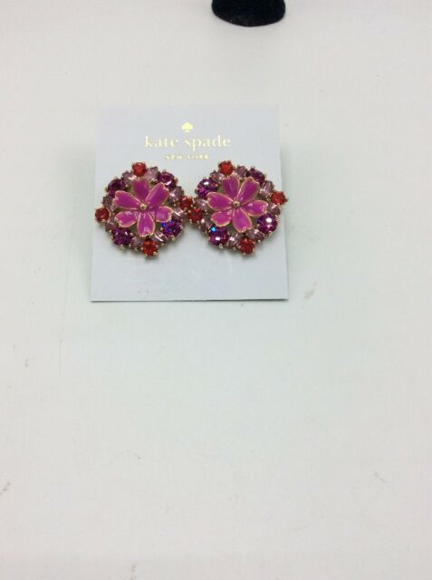 68 Kate Spade Here Comes The Sun Pink Stone Fl Stud Earrings S3