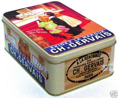 BOITE A SUCRE METAL 19X13X7cm PUB RETRO CHARLES GERVAIS