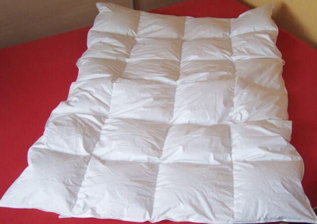 Häussling Daunenbett Daunendecke Bettdecke 4x6 Kassettendecke 135x200 weiß WARM