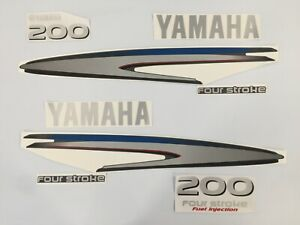 Yamaha 200 4 Stroke HP Decal Kit Outboard Engine Graphic 200hp Sticker USA MADE