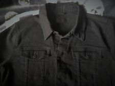 ASOS Jet Black Skinny Fit Denim Jacket Stretch Western Vintage Trucker Cowboy
