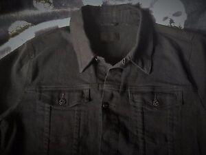 dce1f2db6b2 ASOS Jet Black Skinny Fit Denim Jacket Stretch Western Vintage ...