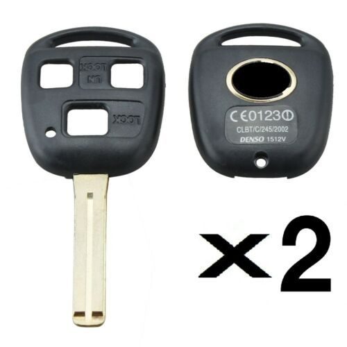 2 New Lexus 3 Button Short Shell Blade Key Blank//High Quality//With Logo
