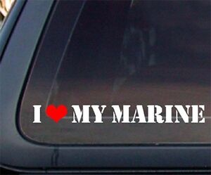 I-Love-My-Marine-w-Red-Heart-Car-Decal-Sticker