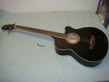 BC BLACK ELECTRIC ACOUSTIC BASS GUITAR WITH BUILT IN EQUALIZER #2 -LOOK!