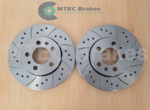 AUDI A2 1.4 1.4 TDi 1.6 FSi 8Z 2000-2005 FRONT DRILLED GROOVED BRAKE DISCS 256mm