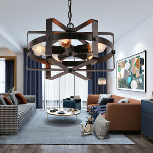 Details About Drum Chandelier Modern Farmhouse Pendant Chandeliers F Dining Roomsliving Room