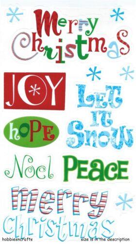 NOEL PEACE POSTAGE DEAL MERRY CHRISTMAS EK SUCCESS STICKO STICKERS
