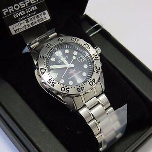 SEIKO SBDN013 PROSPEX Diver Scuba SOLAR Titanium Men's ...