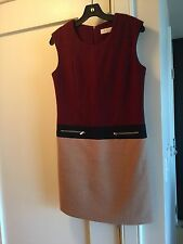 Color Blocked Wool Dress. COS Celine Acne Style Sz Small Or 2