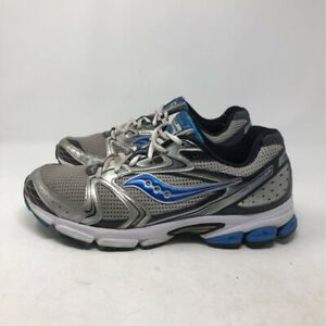 Running Shoes Gray Blue 25190-1 Lace Up