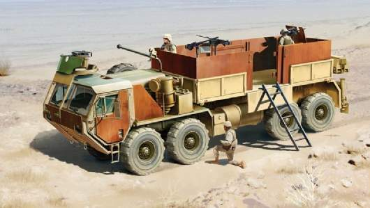 Hemtt Gun Truck Plastic Kit 1:35 Model ITALERI