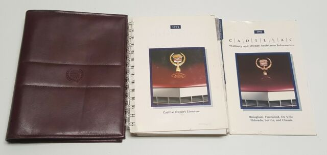 1991 Cadillac Deville Owners Manual User Guide V8 4 9l