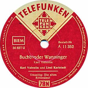 Karl Valentin Buchbinder Wanninger