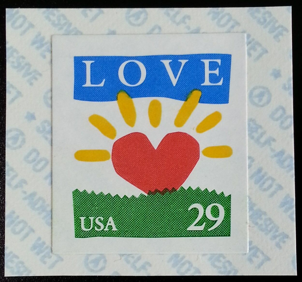 1994 29c Love & Sunrise, Coil, SA Scott 2813v Mint F/VF