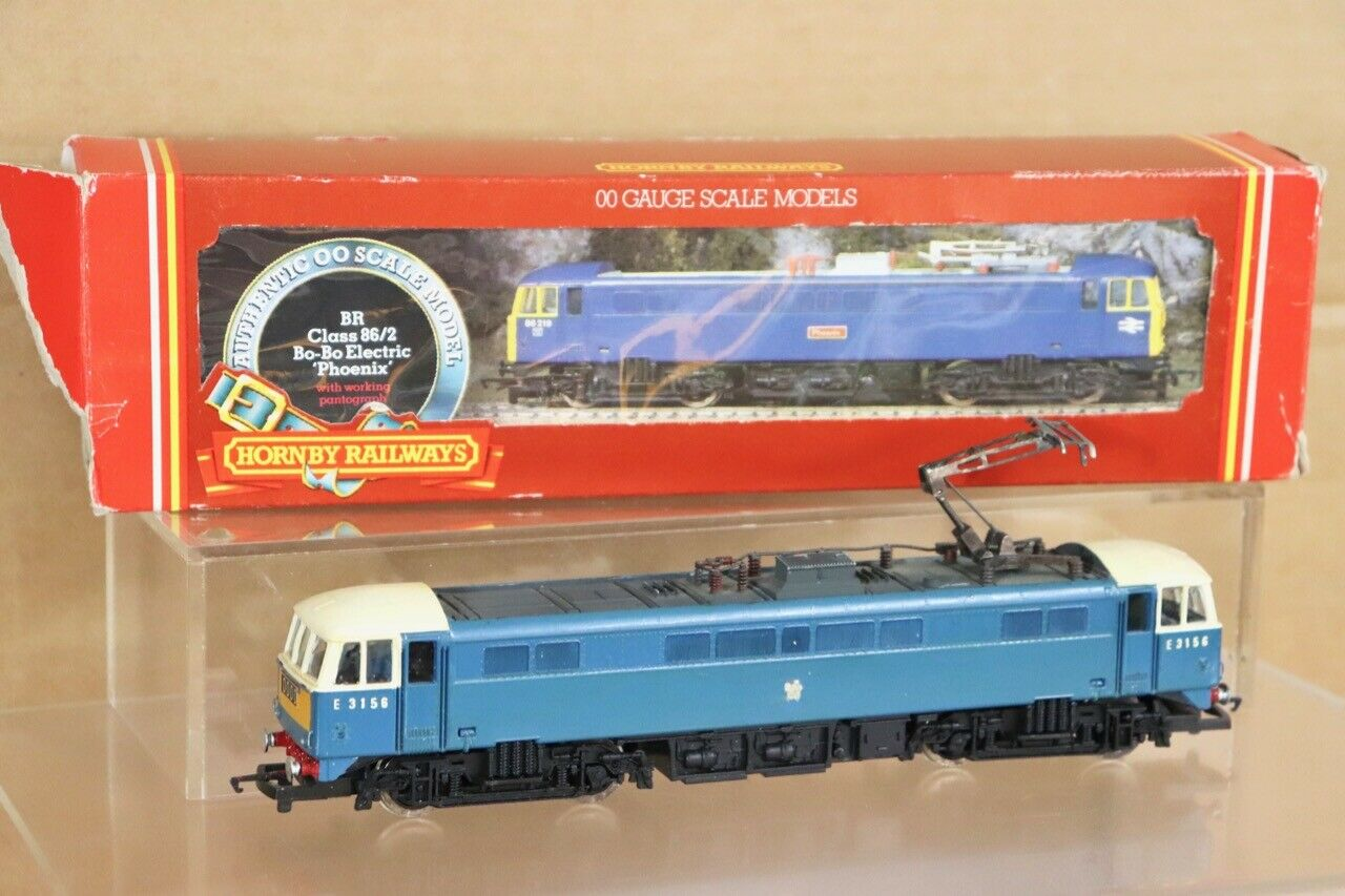 HORNBY R360 RE PAINTED BR azul CLASS 86 2 ELECTRIC LOCOMOTIVE E3156 BOXED n