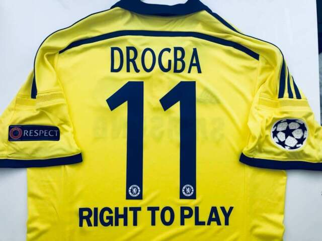 another chance 3a7db 1f3fc 2014/15 ADIDAS CHELSEA FC DROGBA Away Jersey Yellow M37745