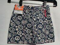 Roadhouse Jeans By Dakota Blue Girls Blue Floral Love & Peace Skirt Size 4t