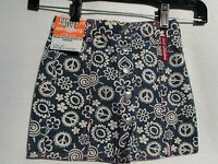 Roadhouse Jeans By Dakota Blue Girls Blue Floral Love & Peace Skirt Size 4t