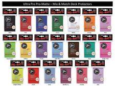 600 ULTRA PRO PRO-MATTE DECK PROTECTORS SLEEVES LOT MTG 12 Pks Mix Match Colors