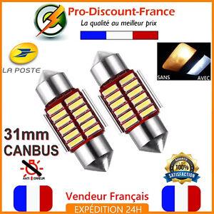 2-x-Ampoule-31mm-30mm-Navette-LED-C5W-Anti-Erreur-CANBUS-Plafonnier-PLAQUE-31-mm