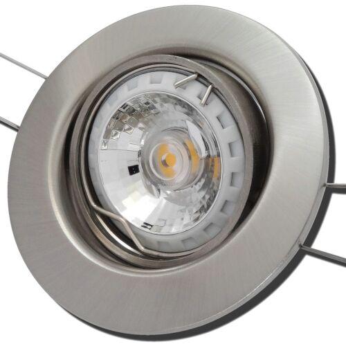 IP20 LED Einbaustrahler Sets Stahl COB EEK A+ 230Volt Reflektor 5W