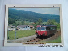 CARTE FICHE TRAIN SCHIENENBUS BR 795 ET 798
