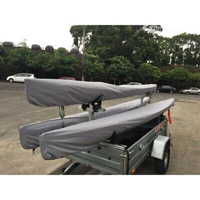 Boat Kayak Cover Grey Rain Sun Waterproof Shield UV Resistant Multisize Storage