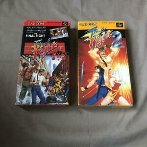 Final-Fight-1-2-Nintendo-Super-Famicom-SFC-Capcom-Used-Japan-SNES-Free-Shipping