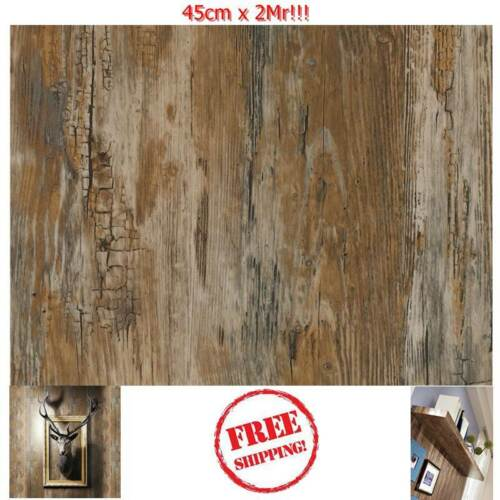 NEW DIY Kitchen Worktop Rusty Wood Vinyl Cover Self Adhesive Sticky Back Wrap