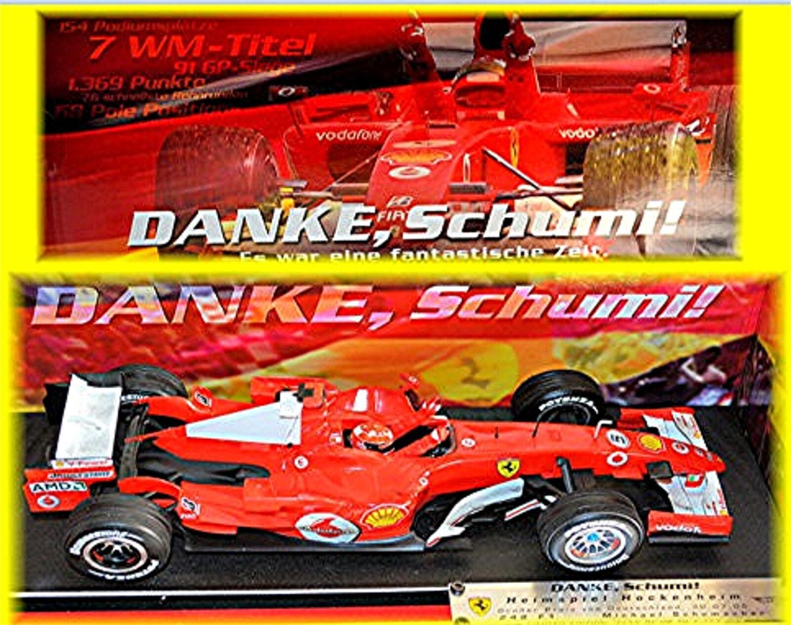 Ferrari 248 f1 gracias, schumi  hockenheim 2006  5 schumacher 1 18 Hot Wheels