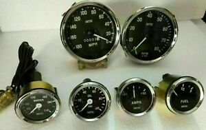 Smiths-Replica-52mm-Kit-Temp-Oil-Fuel-Amp-Gauge-Speedometer-Tacho-100mm