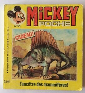 MICKEY-POCHE-n-56-de-Decembre-1978-Album-BD-Walt-Disney-sans-Encart-Dino