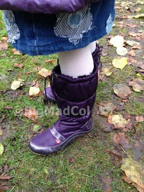Kickers Kick Sport Snowy Girls Ladies Snow Boots Purple size UK 8 NEW