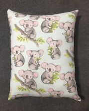 Koala Bear Throw Pillow NICI Wild Friends Adventure Green 16x9 Plush Embroidered