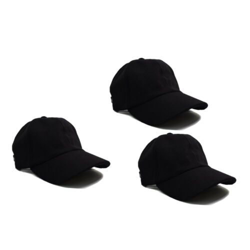 Black Classic Adjustable Baseball Caps Work Casual Sports Leisure