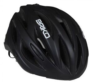 Casco-bici-corsa-MTB-Briko-Shire-nero-opaco-matt-black-bike-helmet-L