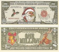 USA United States 1 Million Dollars 2011 NEW Fantasy XMAS Santa Claus Banknote
