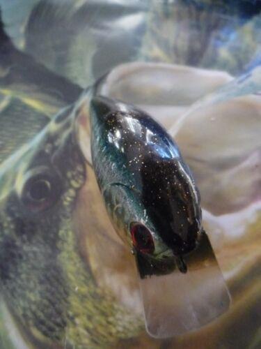 CRANKBAIT CUSTOM PAINTED LUCKYCRAFT STYLE RC.1.5 SQUAREBILL FISHING LURE DARK GL