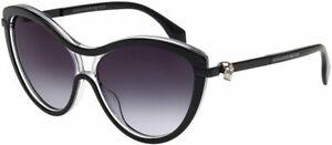 Alexander-McQueen-AM-0021s-002-Black-Skull-Sunglasses-Sonnenbrille-Grey-Gradient