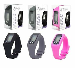 Activity Watch Fitnes Tracker Gym Wrist Band Step Counter Pedometer Silicone Run