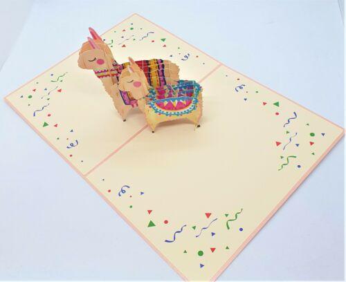 BC Worldwide Ltd 3D Popup Carte Alpaca Llama anniversaire St-Valentin Anniversaire Cadeau