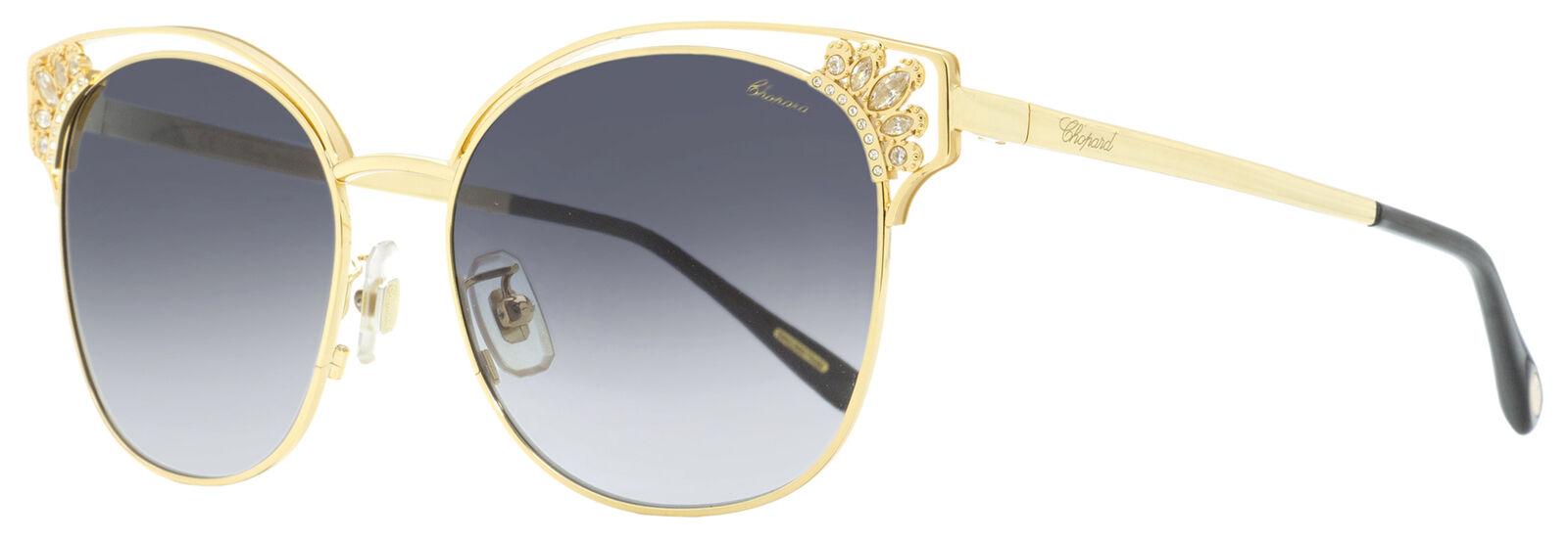 Chopard Square Sunglasses SCHC24S 349F Gold/Black 57mm C24