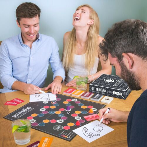 Funny Board Game Drinking Hen Adult Party Game of Dirty Drawings Gutterhead